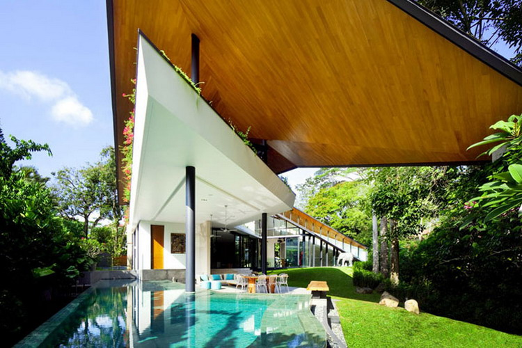 The Winged House | Nhà ở Singapore – K2LD Architects