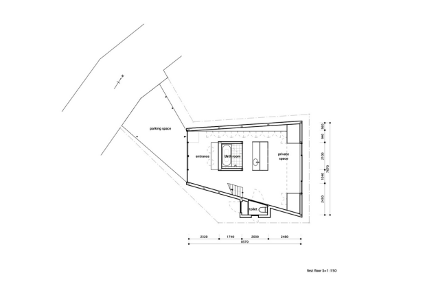 grass-cave-house-makiko-tsukada-architects_first_floor_plan