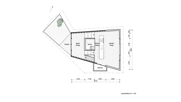grass-cave-house-makiko-tsukada-architects_second_floor_plan